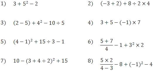 all operations with integers worksheet
