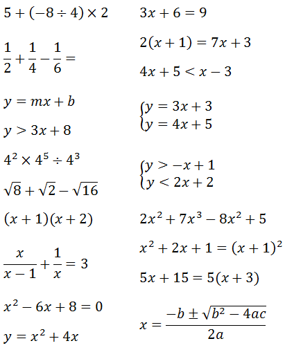 Systems of Equations 3x3's - Cool math Algebra Help Lessons - Solving ...